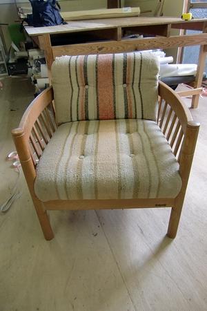 1人掛けソファーの張替え施工例